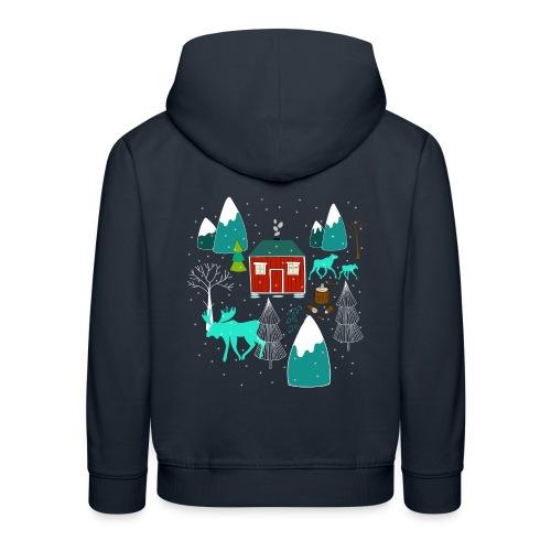 Weihnachten Elch I Geschenk Winterstimmung - Kinder Premium Hoodie