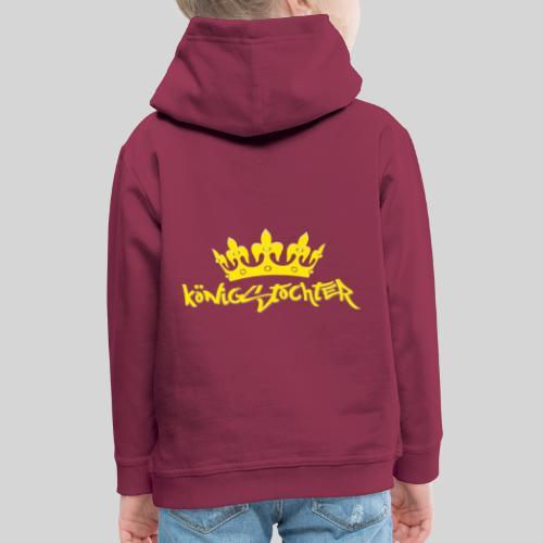 Königstochter m. Krone über der stylischen Schrift - Kinder Premium Hoodie