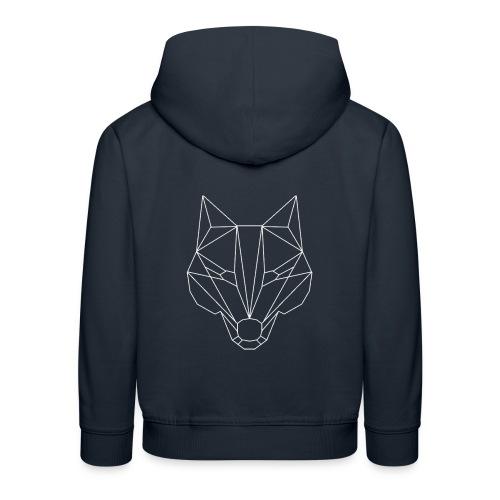 Wolf Whitelined - Kinder Premium Hoodie