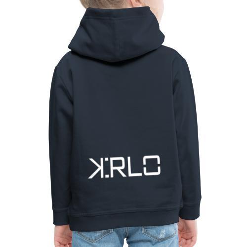 Kirlo Logo Blanco - Sudadera con capucha premium niño