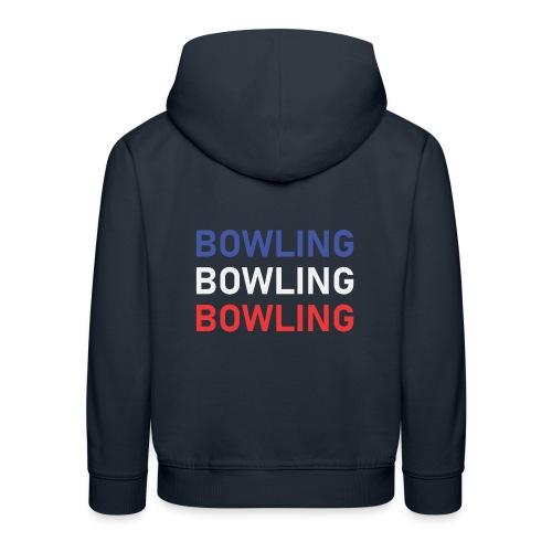 Bowling Bleu Blanc Rouge - Pull à capuche Premium Enfant