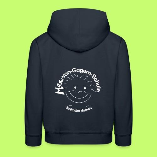 Mäxchen Logo weiß - Kinder Premium Hoodie