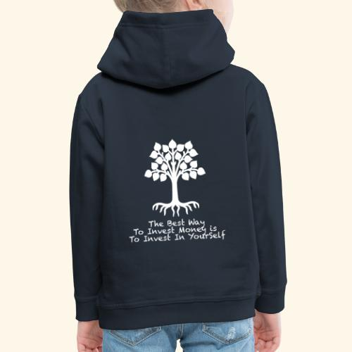 Printed T-Shirt Tree Best Way Invest Money - Felpa con cappuccio Premium per bambini
