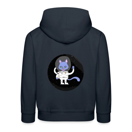 space cat - Pull à capuche Premium Enfant