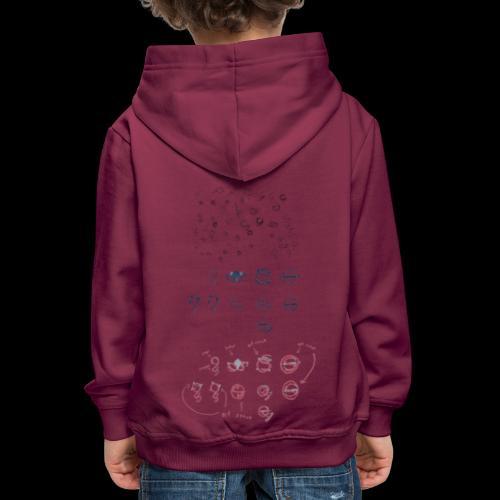 Overscoped concept logos - Kids' Premium Hoodie