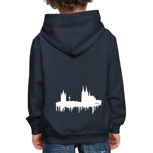 Skyline Köln - Weiß - Kinder Premium Hoodie