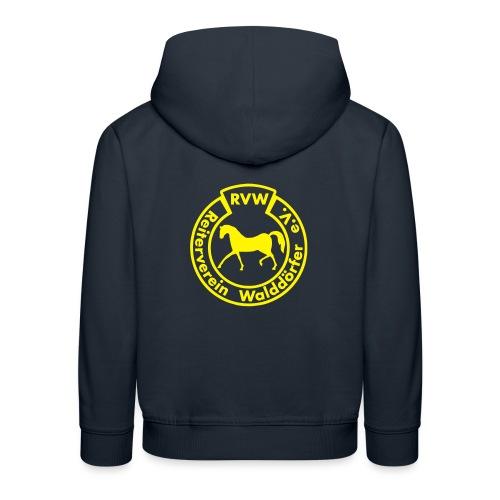 RVW Logo gelb - Kinder Premium Hoodie