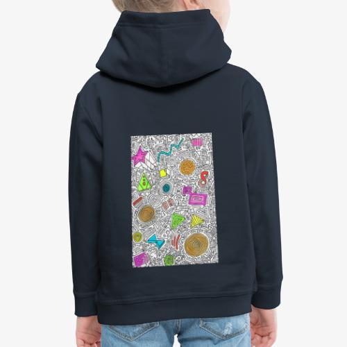 Electronics Urban Pattern - Pull à capuche Premium Enfant
