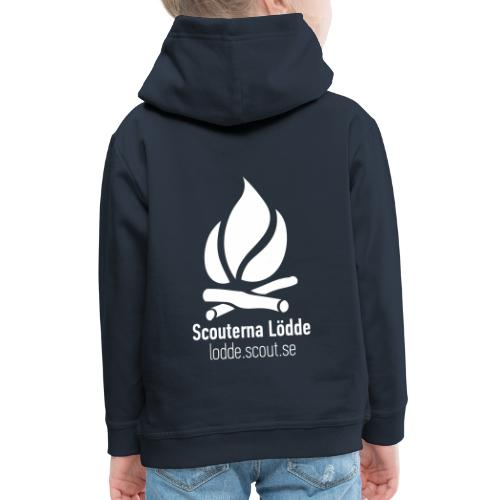 Lödde Tryck Logo (Blå) - Premium-Luvtröja barn