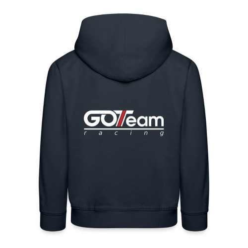 GOTeam Racing White - Premium-Luvtröja barn