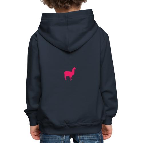 Lama - Kinderen trui Premium met capuchon