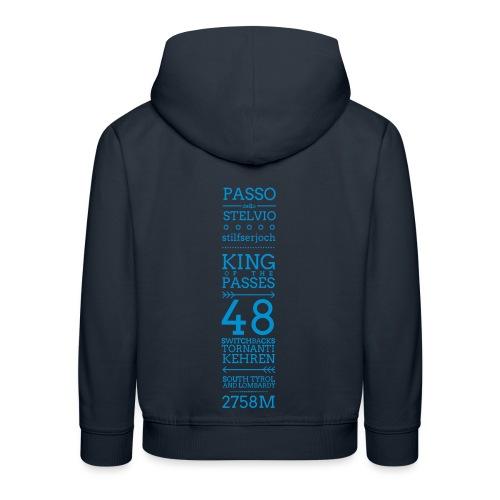 KING - Felpa con cappuccio Premium per bambini