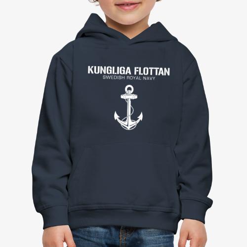 Kungliga Flottan - Swedish Royal Navy - ankare - Premium-Luvtröja barn
