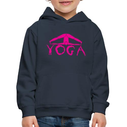 yoga yogi viola spiritualità amore namaste sport - Felpa con cappuccio Premium per bambini