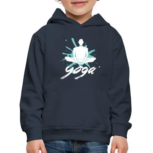 yoga blu yoga yogi namaste pace amore arte hippie - Felpa con cappuccio Premium per bambini