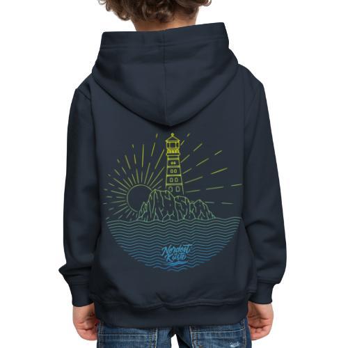 Leuchtturm mit Sonne am Meer - Kinder Premium Hoodie