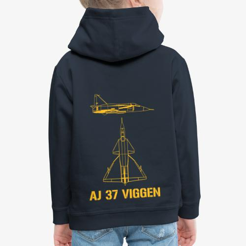 AJ 37 VIGGEN - Premium-Luvtröja barn