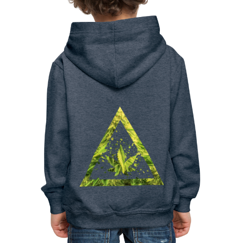 Marijuana Cannabisblatt Triangle with Splashes - Kinder Premium Hoodie