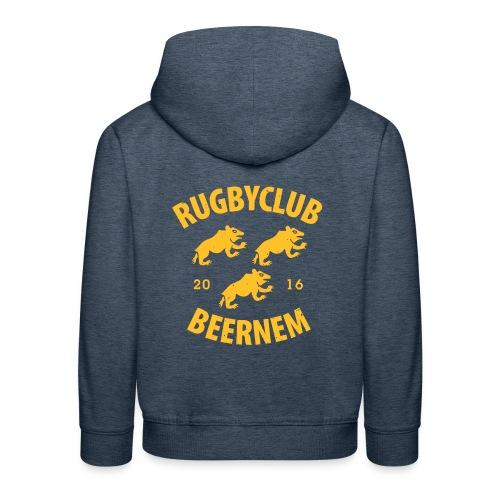vintage RC Beernem logo - Kinderen trui Premium met capuchon