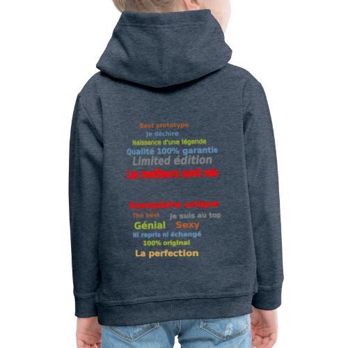 t shirt les meilleurs sont nés sweat shirt et mugs - Pull à capuche Premium Enfant