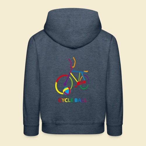 Radball | Cycle Ball Rainbow - Kinder Premium Hoodie