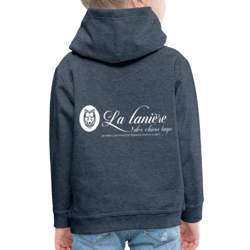 La Tanière des Chiens-Loups (logo plus grand) - Pull à capuche Premium Enfant