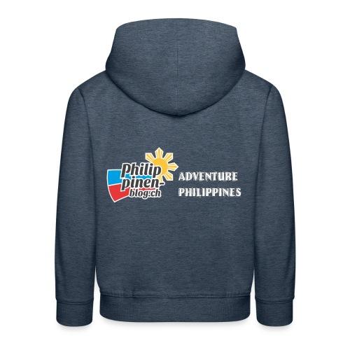 Philippinen-Blog Logo english schwarz/weiss - Kinder Premium Hoodie