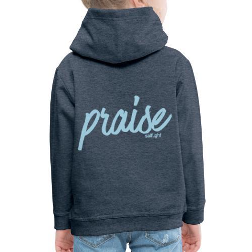 Praise (BLACK) - Kids' Premium Hoodie