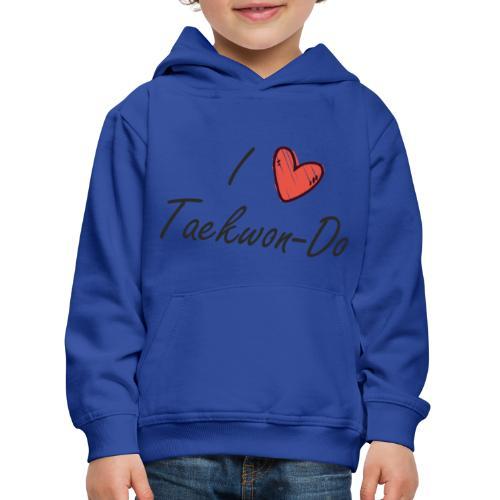I love taekwondo letras negras - Sudadera con capucha premium niño