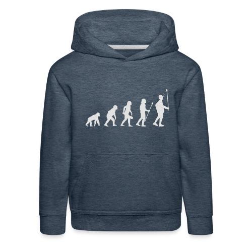 Evolution Stabführer weiß - Kinder Premium Hoodie