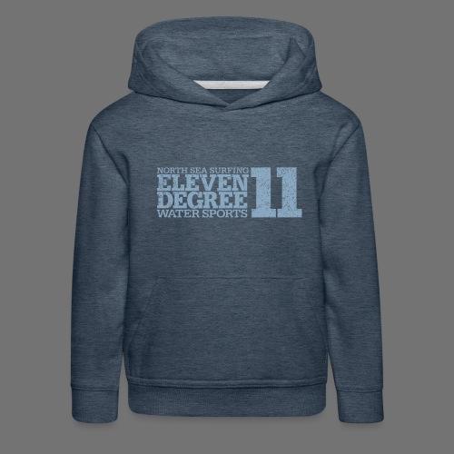 eleven degree light blue (oldstyle) - Kids' Premium Hoodie