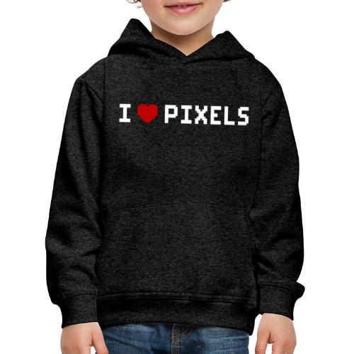 I Love Pixels - Premium hættetrøje til børn
