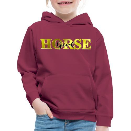 Horsegirl Reiten Pferde Geschenk - Kinder Premium Hoodie