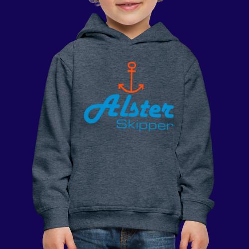 Hamburg maritim: Alster Skipper mit Anker - Kinder Premium Hoodie