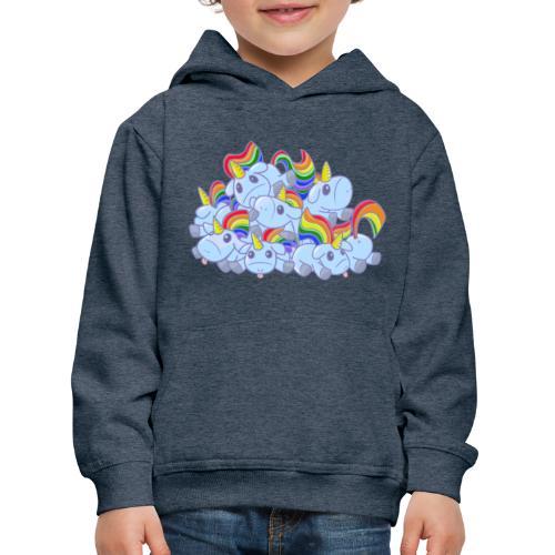 Moar unicorns! - Felpa con cappuccio Premium per bambini