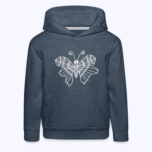 Schmetterling weiss - Kinder Premium Hoodie