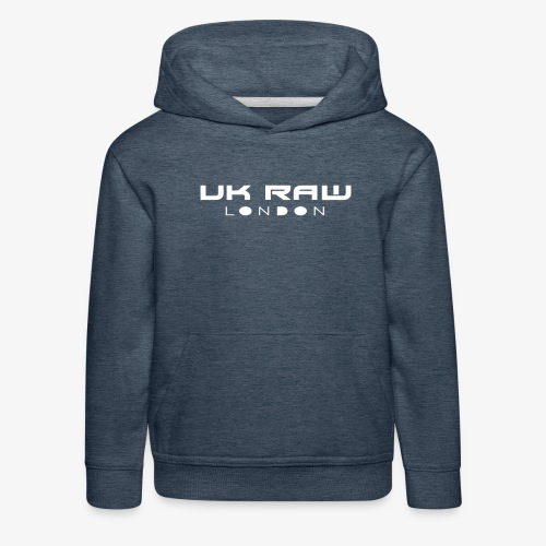UK Raw London White Logo - Kids' Premium Hoodie