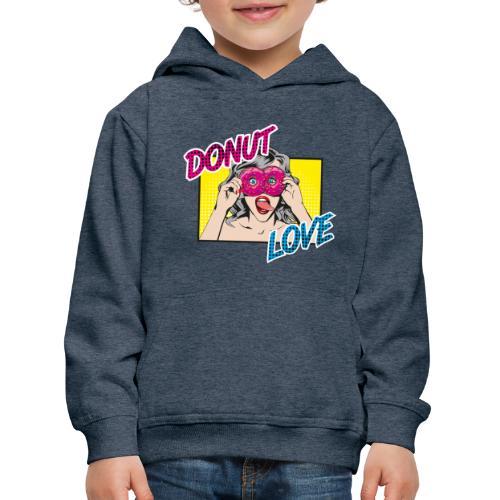 Popart - Donut Love - Zunge - Süßigkeit - Kinder Premium Hoodie