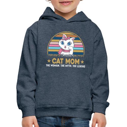 CAT MOM - Pull à capuche Premium Enfant