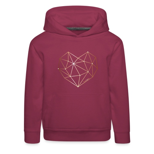Herz in Diamant, Diamantherz - Kinder Premium Hoodie