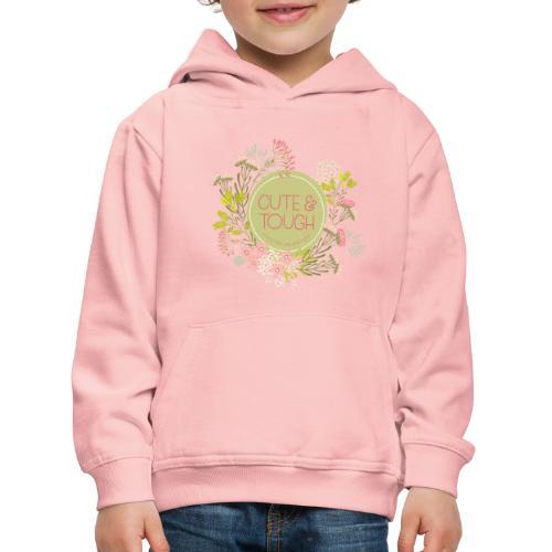 Cute and tough - green - Kids' Premium Hoodie