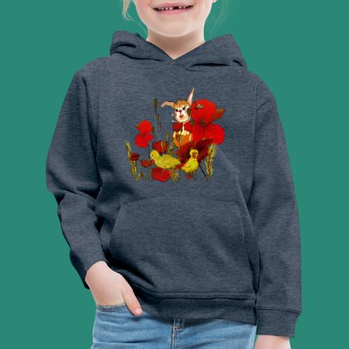 der Hase im Feld - Kinder Premium Hoodie
