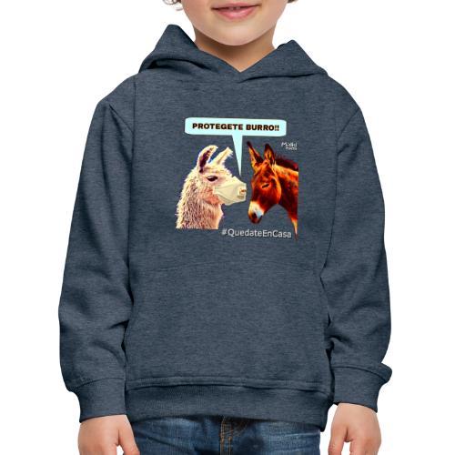 PROTEGETE BURRO - Sudadera con capucha premium niño