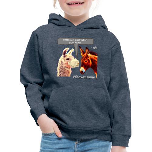 Protect Yourself Donkey - Coronavirus - Pull à capuche Premium Enfant