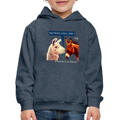 PROTEGEZ-VOUS L'ÂNE !! - Coronavirus - Sudadera con capucha premium niño