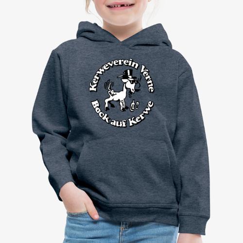 Kerwevereinslogo schwarz-weiss - Kinder Premium Hoodie