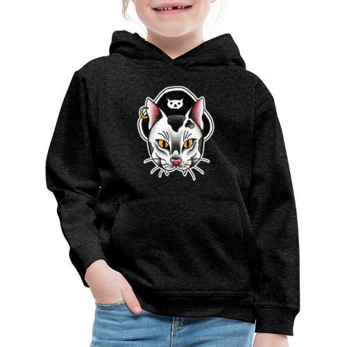Piratecat - Felpa con cappuccio Premium per bambini
