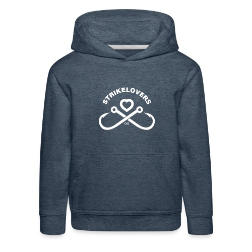 StrikeLovers Solo Vector Weiß - Kinder Premium Hoodie