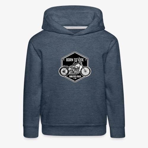 Born to Ride - Vintage motorbike - Felpa con cappuccio Premium per bambini