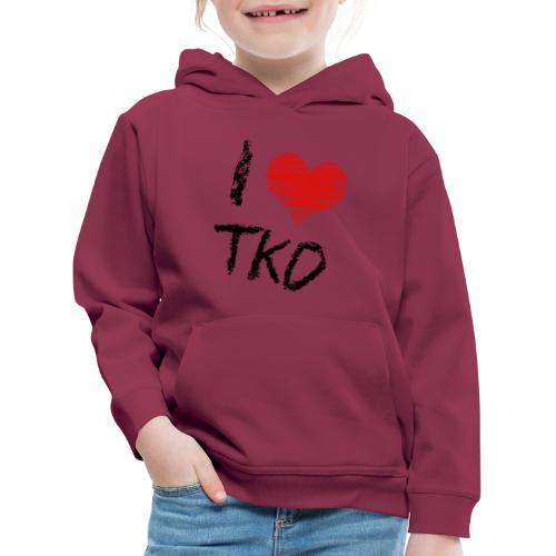 I love tkd letras negras - Sudadera con capucha premium niño